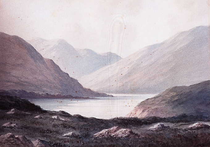 MOUNTAINS AND LAKE SCENES (A PAIR) by Douglas Alexander sold for �2,666 at Whyte's Auctions