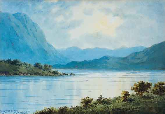 ON CARAGH LAKE, COUNTY KERRY by Douglas Alexander sold for �1,117 at Whyte's Auctions