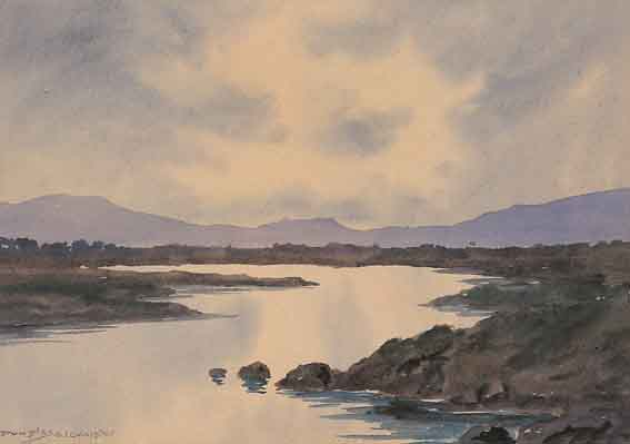 A LAKE SCENE, WEST OF IRELAND by Douglas Alexander sold for �1,142 at Whyte's Auctions