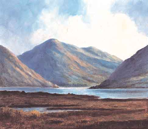 WEST OF IRELAND LAKE AND MOUNTAINS by Douglas Alexander sold for �2,285 at Whyte's Auctions