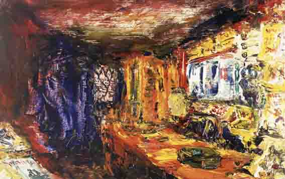 SWEETS, TOBACCO, BLOOD AND THUNDER by Jack Butler Yeats sold for �53,327 at Whyte's Auctions