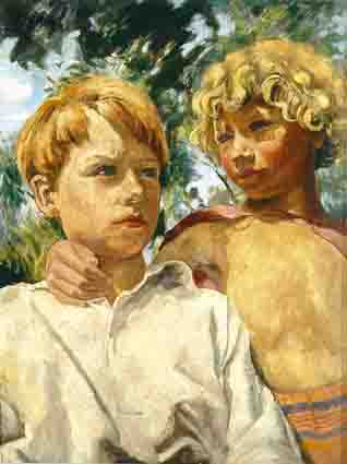 TWO CHILDREN by Noel Adney sold for �1,015 at Whyte's Auctions