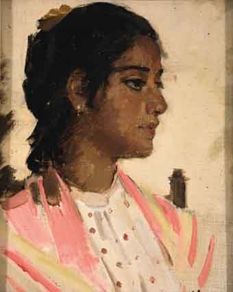 CIGARETTE FACTORY GIRL, SEVILLE by Sir John Lavery sold for �27,000 at Whyte's Auctions