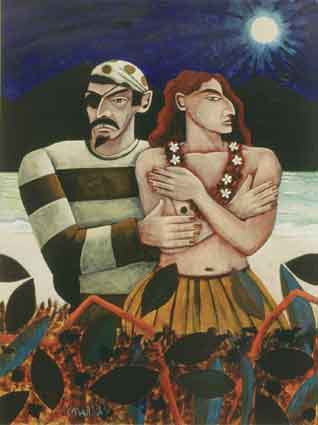 PIRATE AND ISLANDER GIRL by Graham Knuttel sold for �8,500 at Whyte's Auctions