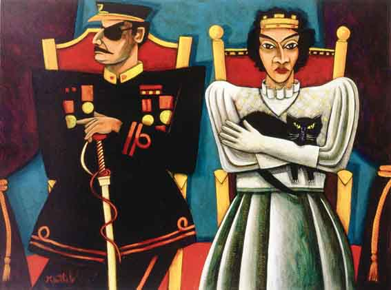 GENERAL AND QUEEN by Graham Knuttel sold for �6,700 at Whyte's Auctions