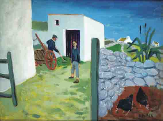MAC DARA'S YARD by Gerard Dillon sold for �29,000 at Whyte's Auctions