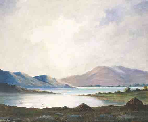 LANDSCAPES WITH TURF STACKS by Douglas Alexander sold for �2,200 at Whyte's Auctions