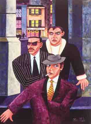 THREE GANGSTERS by Graham Knuttel sold for �11,000 at Whyte's Auctions