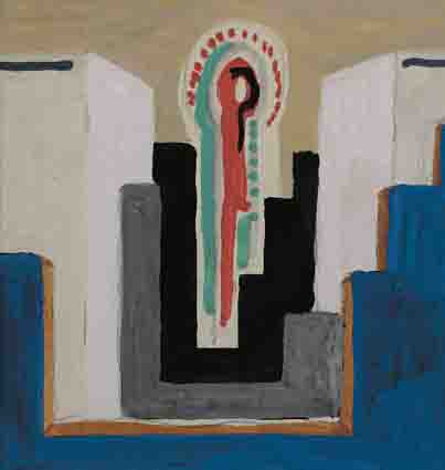 ABSTRACT WITH STEPPED COMPOSITION by Mainie Jellett sold for �3,200 at Whyte's Auctions