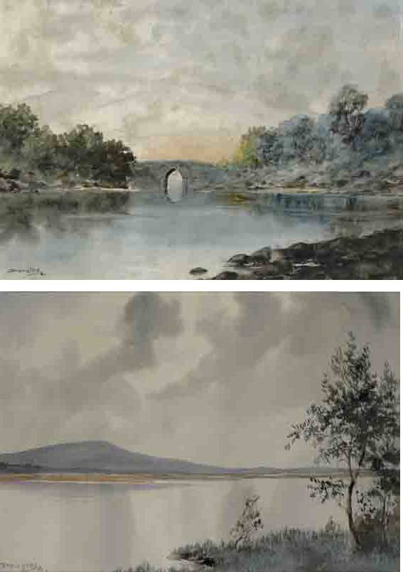 BRIKEEN BRIDGE,KILLARNEY, and A CONNEMARA LAKE (A PAIR) by Douglas Alexander sold for �2,300 at Whyte's Auctions
