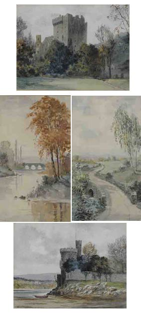 FOUR VIEWS INCLUDING BLARNEY AND BLACKROCK CASTLES, COUNTY CORK by Douglas Alexander sold for �2,600 at Whyte's Auctions