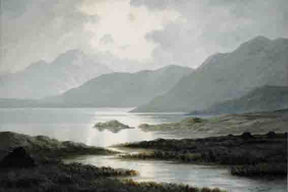 LAKE AND MOUNTAINS, CONNEMARA by Douglas Alexander sold for �1,700 at Whyte's Auctions