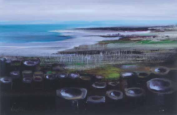 SHORE (GIANT'S CAUSEWAY) by Richard Kingston sold for �8,500 at Whyte's Auctions