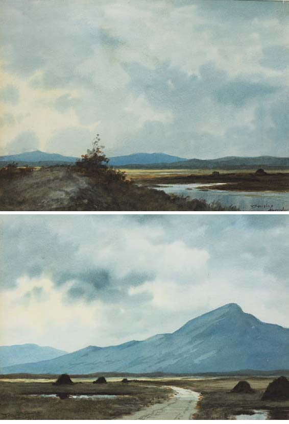 TURF STACKS, CONNEMARA and BOGPOOL, CONNEMARA (A PAIR) by Douglas Alexander sold for �1,600 at Whyte's Auctions