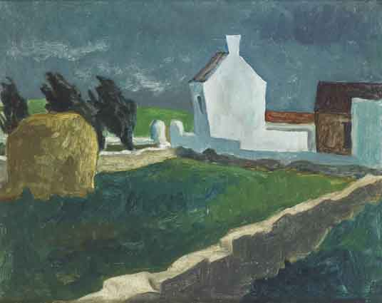 FARM AT BOARDMILLS, COUNTY DOWN by Basil Blackshaw sold for �25,000 at Whyte's Auctions