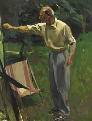 PAINTING IN A GARDEN by William John Leech sold for �50,000 at Whyte's Auctions