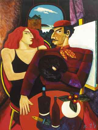 ARTIST AND MUSE by Graham Knuttel sold for �11,000 at Whyte's Auctions