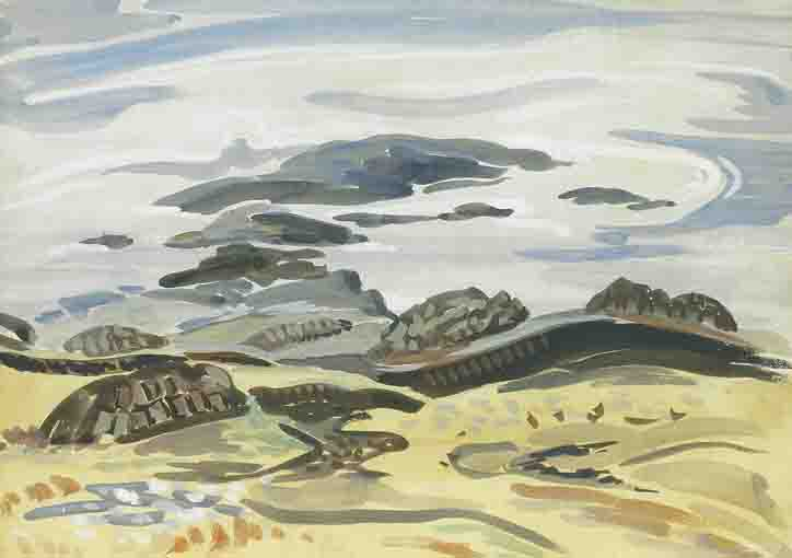 STUDY FOR BOG AND SEA by Mainie Jellett sold for �5,200 at Whyte's Auctions