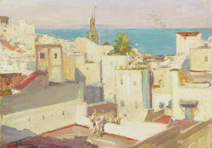 THE HOUSE-TOPS, TANGIER by Sir John Lavery sold for �38,000 at Whyte's Auctions