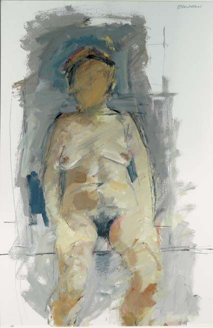 SEATED NUDE by Basil Blackshaw sold for �18,000 at Whyte's Auctions