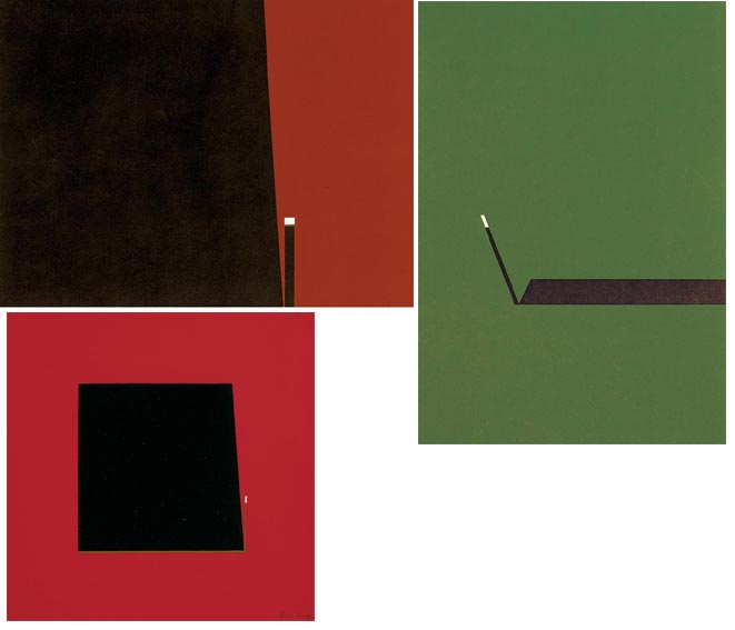 THRUST - A GROUP OF THREE ABSTRACT WORKS by Cecil King sold for �3,400 at Whyte's Auctions