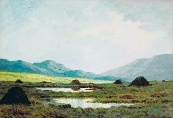 TURF STACKS IN THE WEST OF IRELAND (A PAIR) by Douglas Alexander sold for �2,600 at Whyte's Auctions