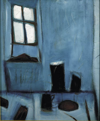 STILL LIFE AND WINDOW, SHIP STUDIO (ST. IVES) by Tony O'Malley sold for �55,000 at Whyte's Auctions