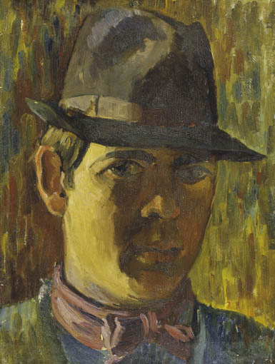 SELF PORTRAIT AS A YOUNG MAN by Basil Blackshaw sold for �36,000 at Whyte's Auctions