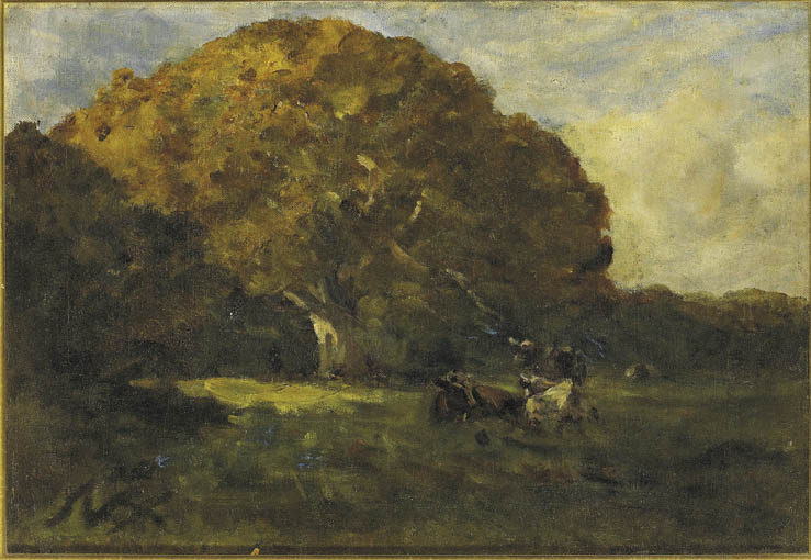 CATTLE GRAZING by Nathaniel Hone RHA (1831-1917) at Whyte's Auctions