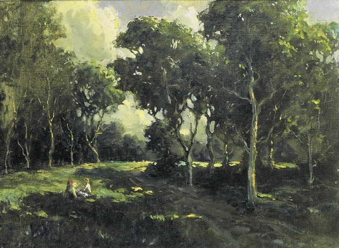 PICNIC IN THE WOODS by James Humbert Craig RHA RUA (1877-1944) at Whyte's Auctions