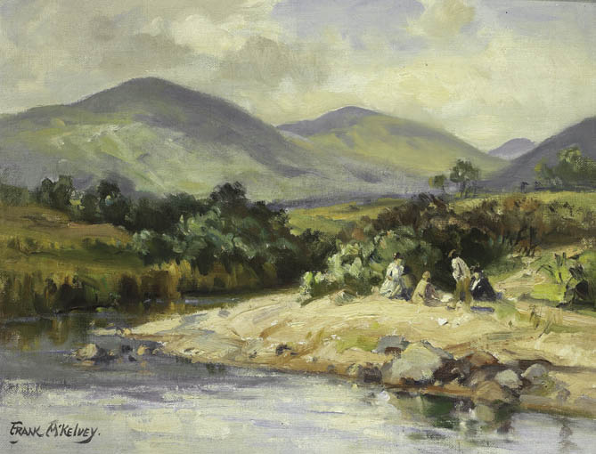 RIVER IN THE MOURNES - HILLTOWN TO KILKEEL by Frank McKelvey RHA RUA (1895-1974) at Whyte's Auctions