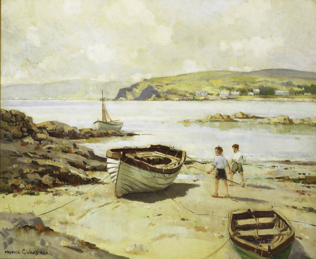 SUMMER DAY, CUSHENDUN, COUNTY ANTRIM by Maurice Canning Wilks RUA ARHA (1910-1984) at Whyte's Auctions