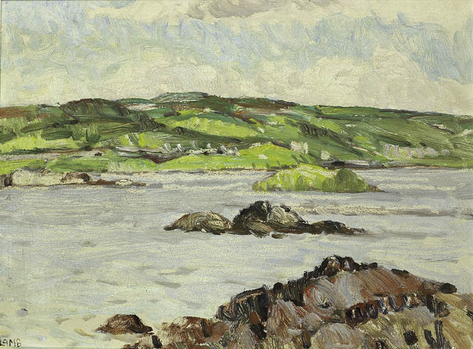 FIELDS AND SEA, CONNEMARA by Charles Vincent Lamb RHA RUA (1893-1964) at Whyte's Auctions
