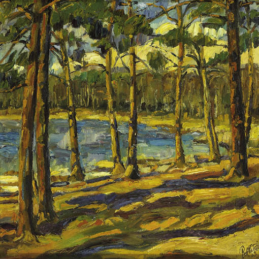 A WOODED BAY by Paul Nietsche (1885-1950) at Whyte's Auctions