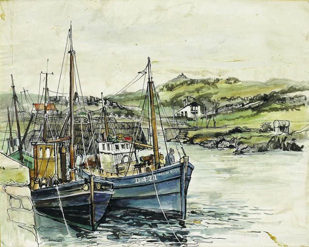 PORT ORIEL HARBOUR, CLOGHER HEAD, COUNTY LOUTH by Muriel Brandt RHA (1909-1981) RHA (1909-1981) at Whyte's Auctions