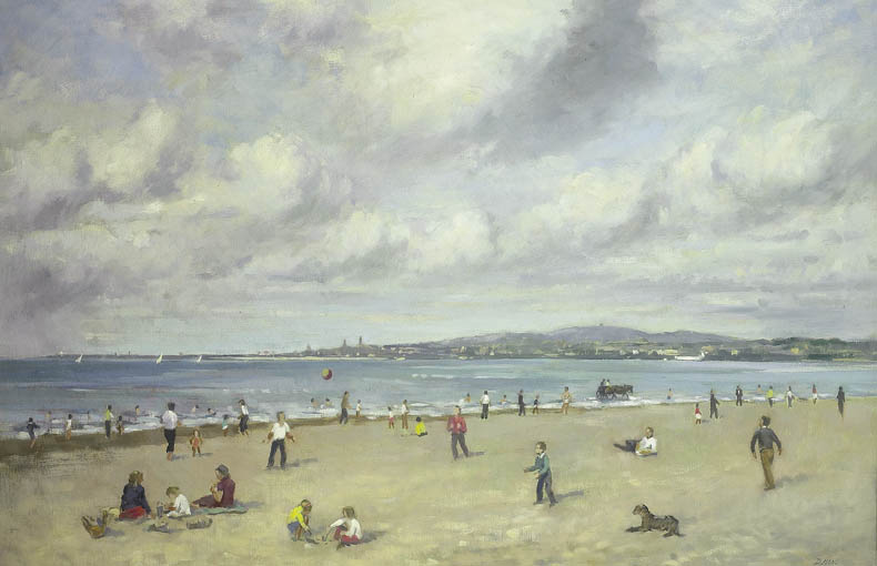 A SUMMER'S DAY, SANDYMOUNT STRAND by David Hone PPRHA (b.1928) at Whyte's Auctions