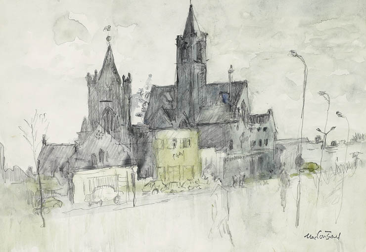CHRIST CHURCH CHAPTER HOUSE, DUBLIN by Maurice MacGonigal PRHA HRA HRSA (1900-1979) at Whyte's Auctions