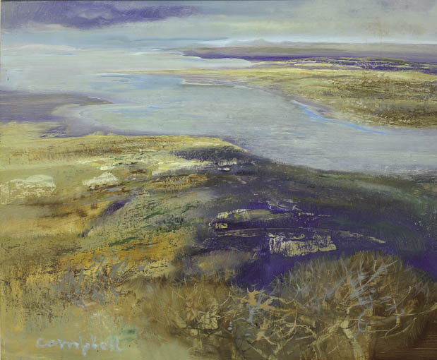 VIEW FROM CROAGH PATRICK by George Campbell RHA (1917-1979) RHA (1917-1979) at Whyte's Auctions