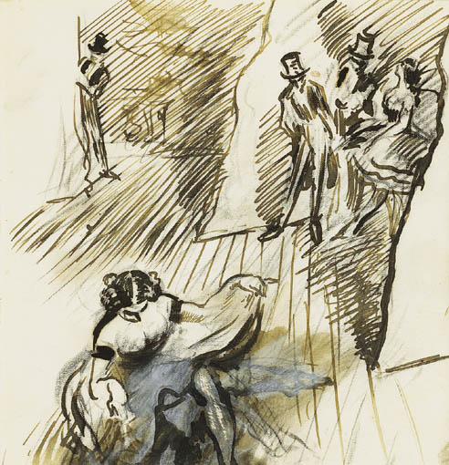 BEHIND THE SCENES by Sir William Orpen sold for �2,200 at Whyte's Auctions