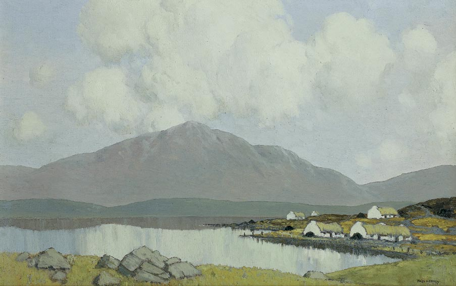 A VILLAGE IN CONNEMARA, circa 1922-29 by Paul Henry sold for �120,000 at Whyte's Auctions