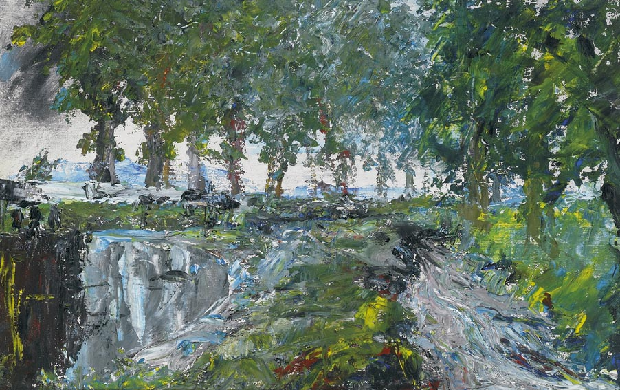 THE OVERFLOW OF THE CANAL 1942 by Jack Butler Yeats sold for �60,000 at Whyte's Auctions