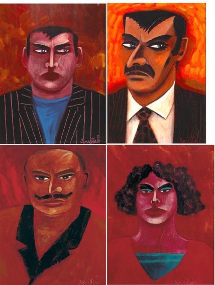 PORTRAITS (SET OF FOUR) by Graham Knuttel sold for �5,700 at Whyte's Auctions