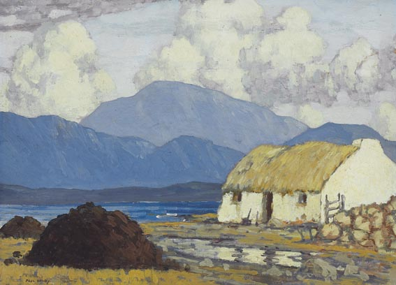 COTTAGES ON KILLARY BAY by Paul Henry sold for �87,000 at Whyte's Auctions