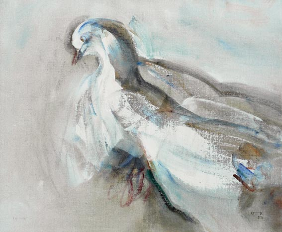 WOUNDED PIGEON by Louis le Brocquy sold for �50,000 at Whyte's Auctions