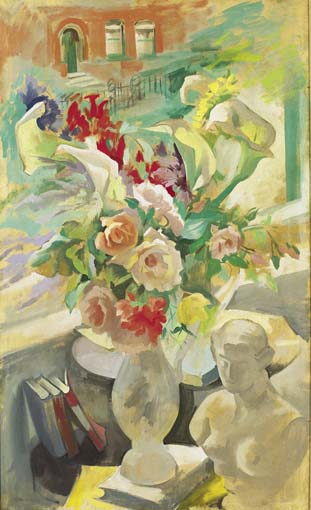 STILL LIFE WITH FLOWERS BEFORE A WINDOW by Frances J. Kelly sold for �9,000 at Whyte's Auctions