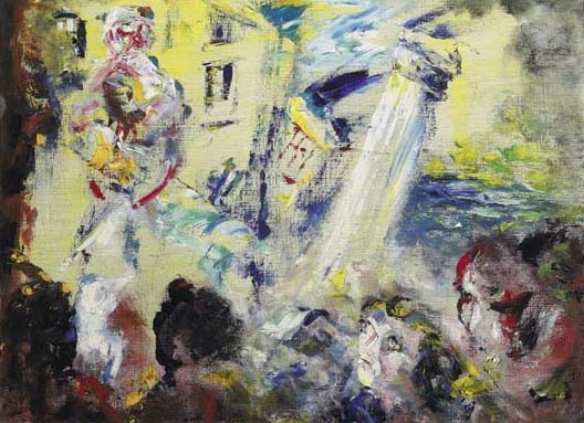 FORGIVE HIM, 1953 by Jack Butler Yeats sold for �205,000 at Whyte's Auctions