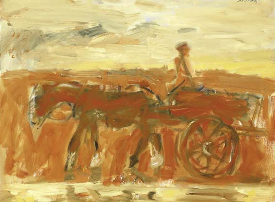 HORSE AND CART by Basil Blackshaw sold for �30,000 at Whyte's Auctions