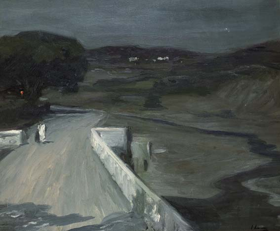 MOONLIGHT - THE BRIDGE by Sir John Lavery sold for �40,000 at Whyte's Auctions