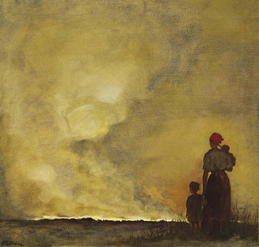 WOMAN AND CHILDREN IN A LANDSCAPE by Dorothy Kay sold for �14,000 at Whyte's Auctions