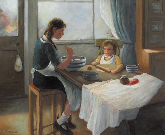 BAKING DAY by Phyllis A. Arnold sold for �750 at Whyte's Auctions